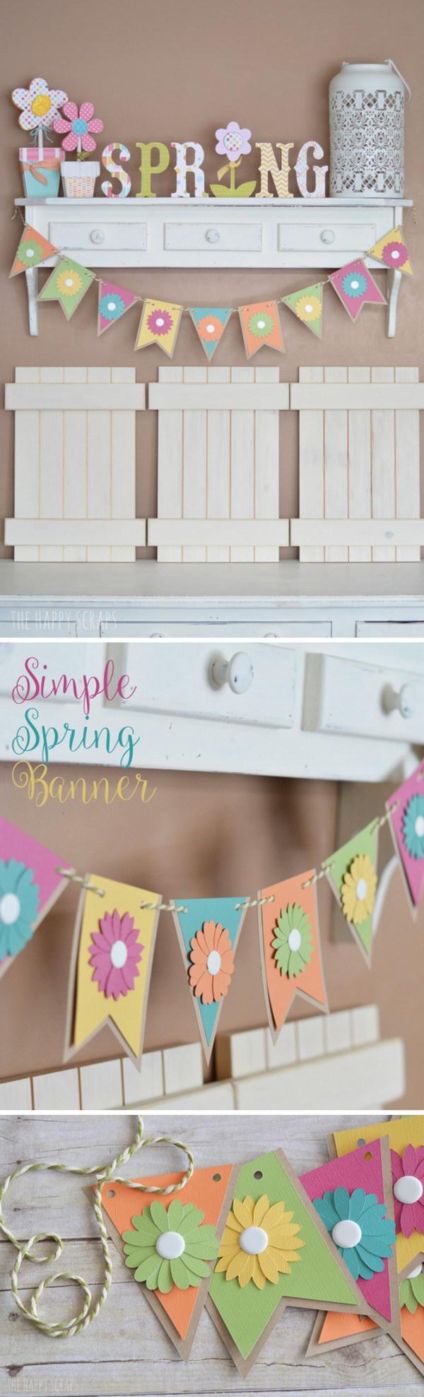 Simple DIY Spring Banner.