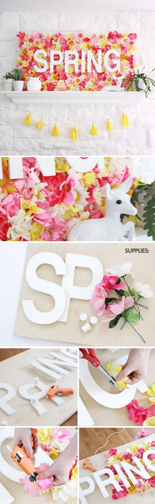 Spring Wallflower Sign.