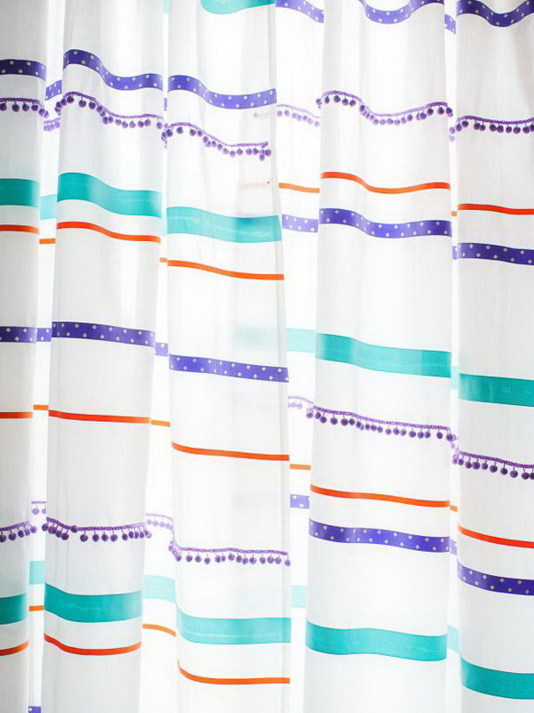 Customize Curtains With Ribbon Trim.