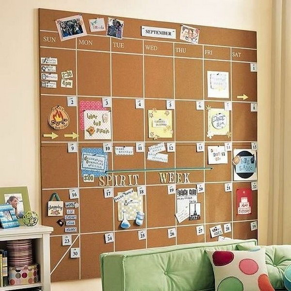 DIY Cork Board Calendar