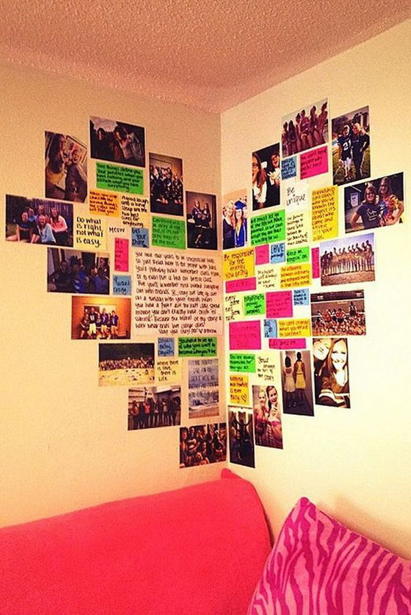 25 budget friendly dorm room decoration ideas 2017 - Teenage wall art ideas ...