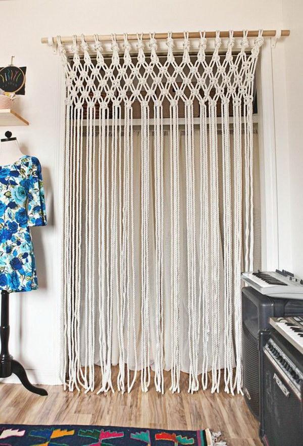 DIY Macrame Curtain.