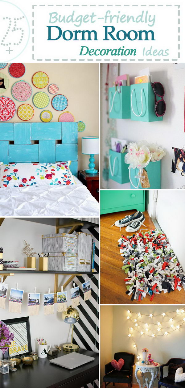 Budget Friendly Dorm Room Decoration Ideas.