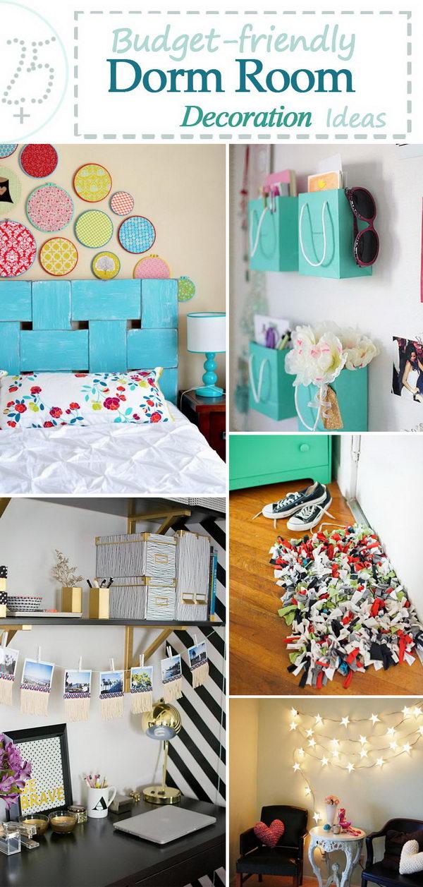 Budget friendly Dorm Room Decoration Ideas.