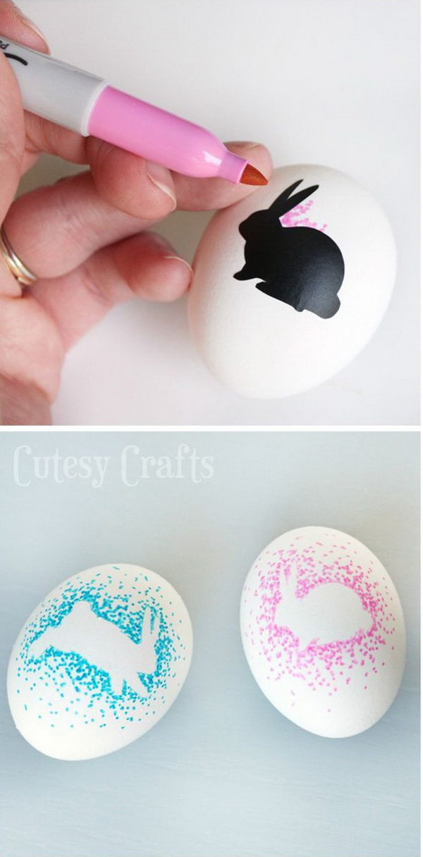 DIY Sharpie Bunny Eggs