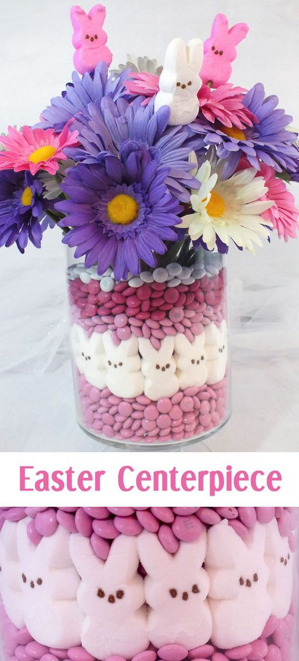 Adorable Easter Peeps Centerpiece