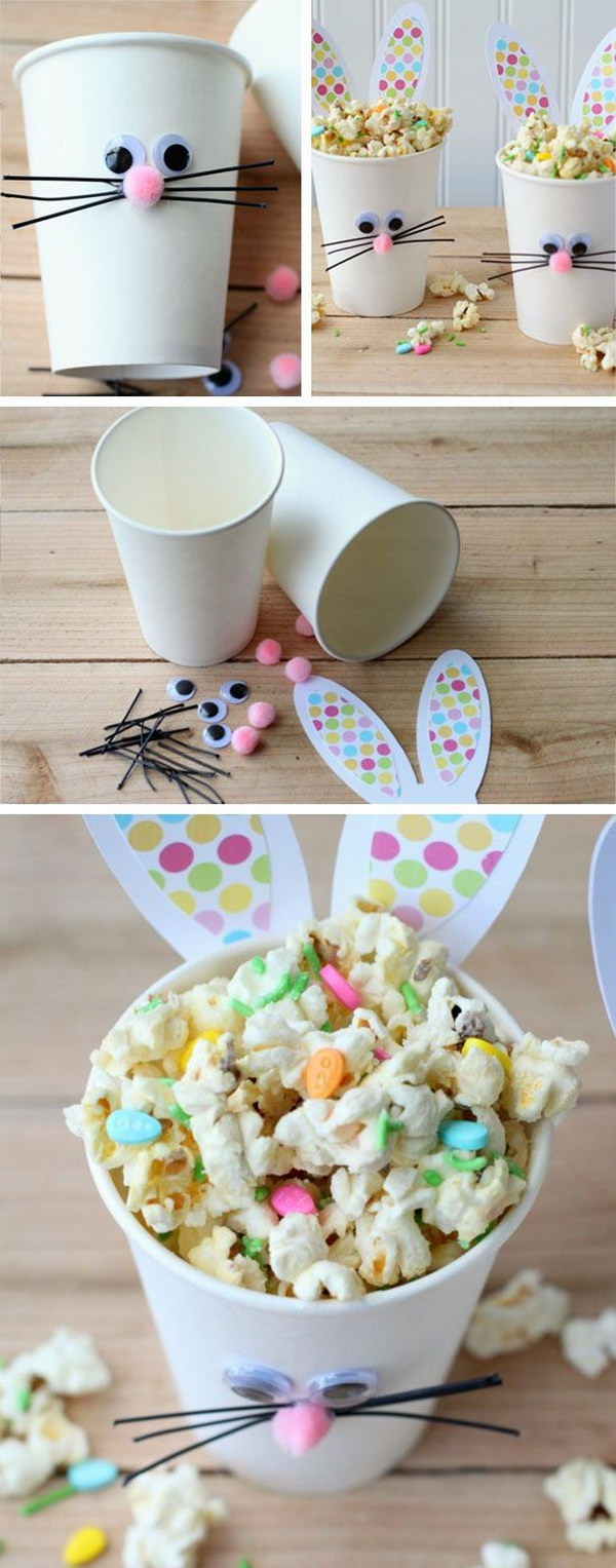 DIY Easter Bunny Cups and Bunny Bait
