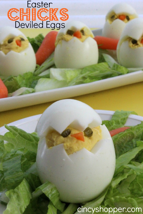 Easy Easter Chick Deviled Eggs