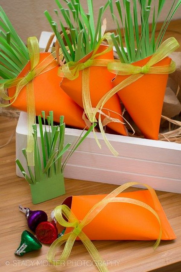 Quick And Easy DIY Carrot Treat Box Favors