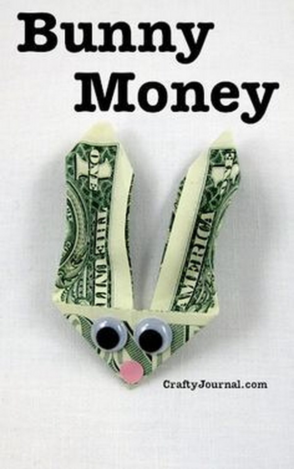 Easy and Creative Bunny Money Gift For Teens And Tweens