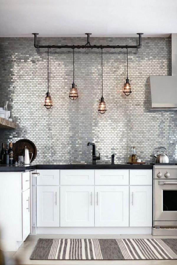 Stainless Metal Mosaic Tile Backsplash