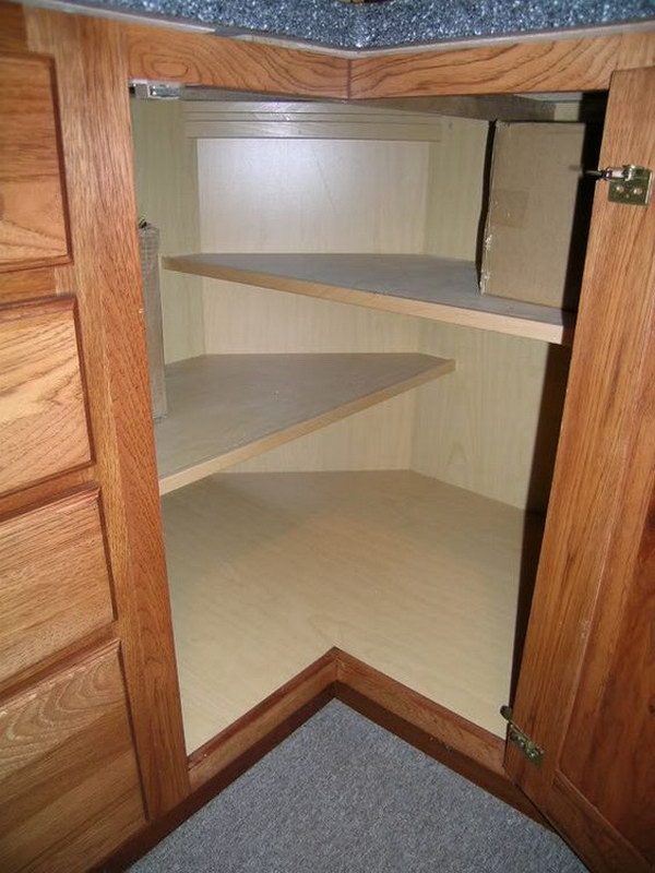 Corner Kitchen Cabinets Design Part - 17: Corner Base Cabinet Shelves