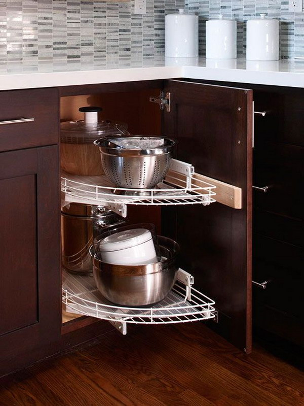 Blind Corner Pullout Shelving Unit