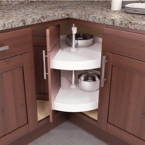 Kitchen Furniture Corner: Kitchen Corner Cabinet Storage Ideas 2017