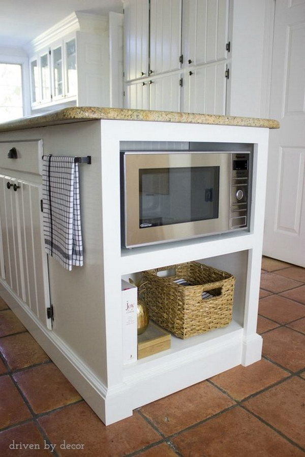 Built In Microwave Shelf.