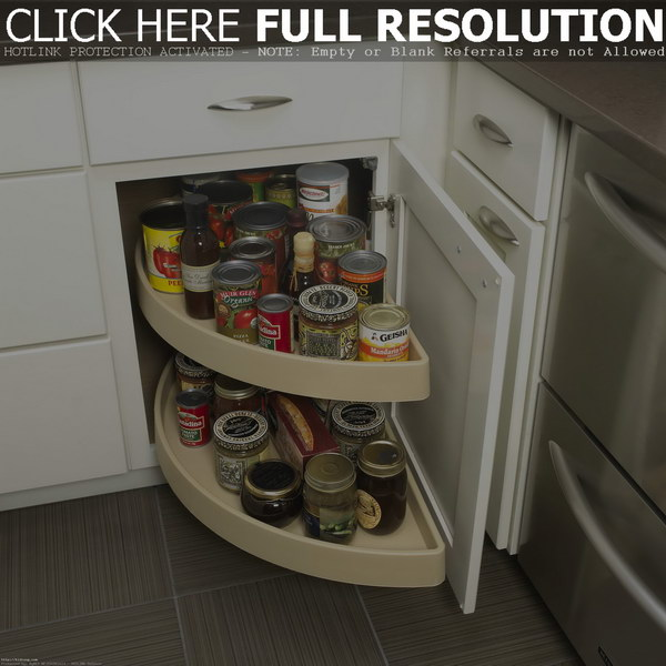 Kitchen Corner Storage Ideas Part - 32: Half Moon Pivot And Slide Out Blind Corner Organizer
