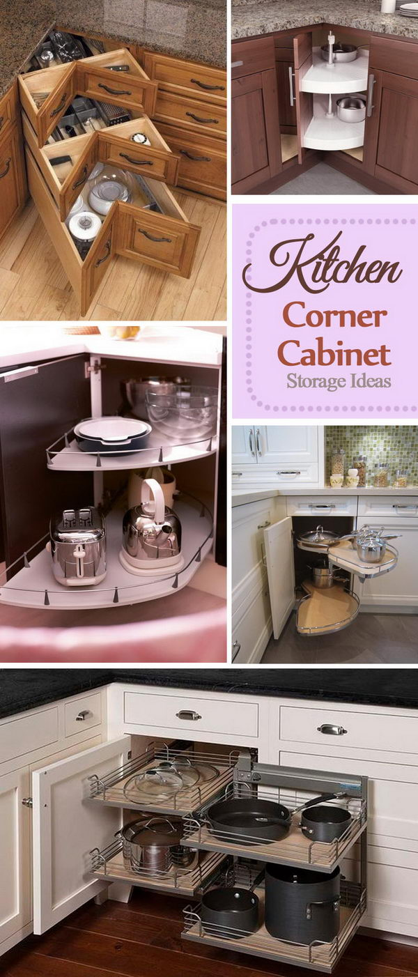 Kitchen Corner Cabinet Storage Ideas.