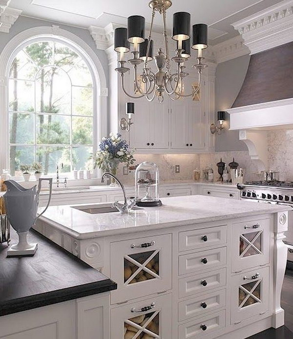 Traditional White Kitchen Cabinets Ideas: 30+ Awesome Kitchen Lighting Ideas 2017