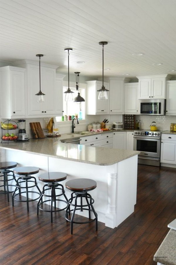 Lighting A Vaulted Ceiling Kitchen