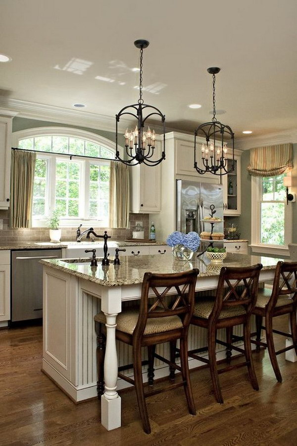 Awesome Kitchen Lighting Ideas - Kitchens with pendant lights over island