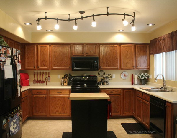 Mini Kitchen Remodel with the 6 light Decorative Track Lights.