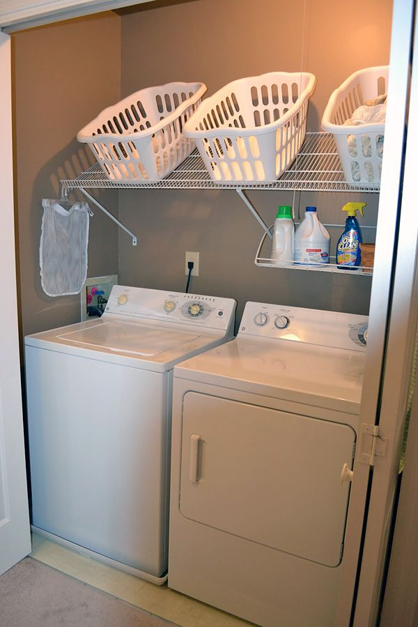 Captivating Add A Closet Shelving Kit Above The Washer And Dryer