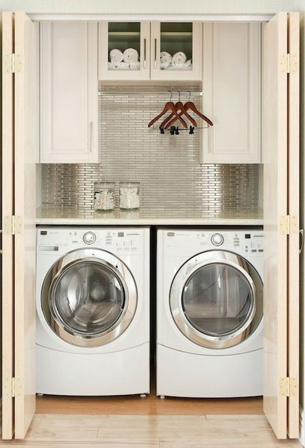 Stylish Closet Laundry For A Small Home