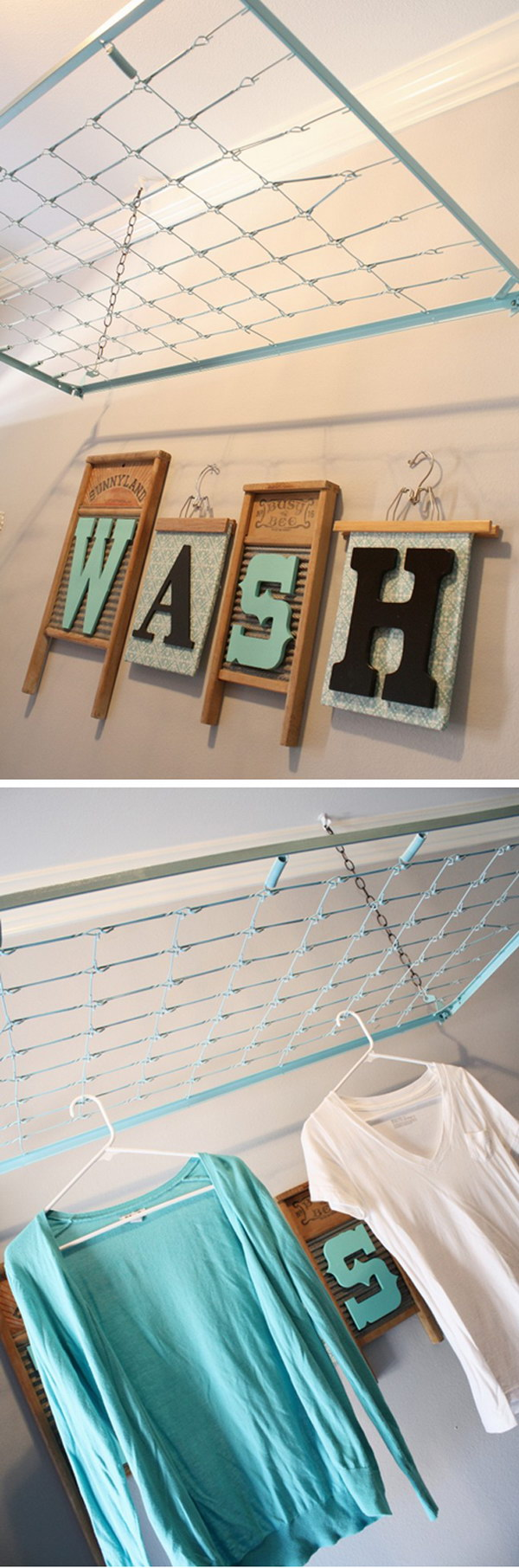 Repurpose A Crib Spring As A Drying Rack