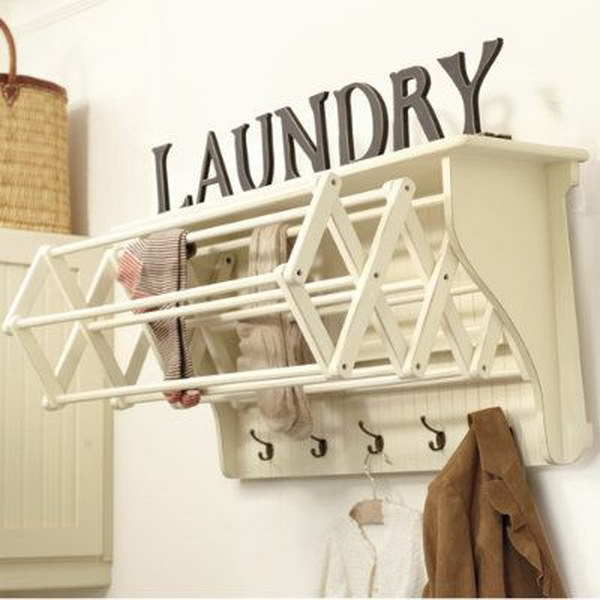 50 laundry storage and organization ideas 2017 Laundry room drying rack ideas