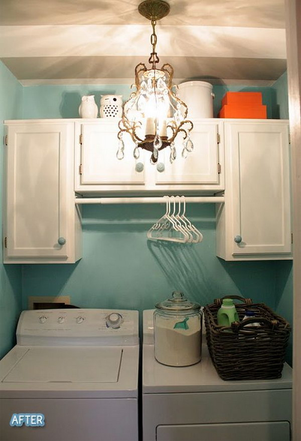 Small Laundry Cabinets And Lighting