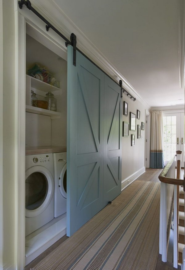 Stylish Closet Laundry Sliding Barn Door