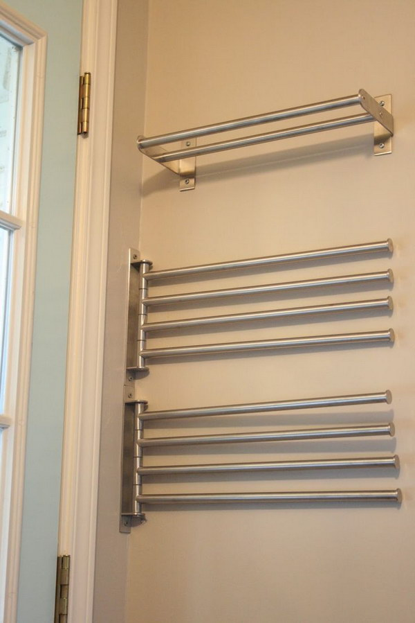 Ikea Towel Bars For Drying Clothes. 50 Laundry Storage And Organization Ideas   IdeaStand