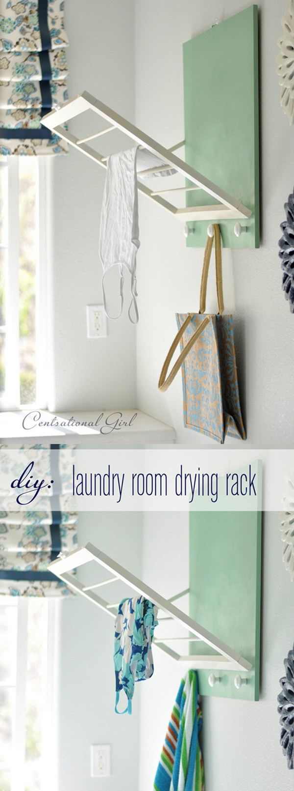 DIY Foldable Laundry Room Drying Rack