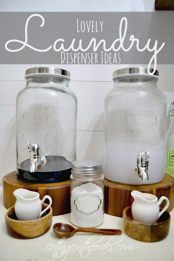 DIY Dispenser For Laundry Soap