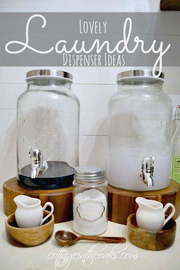 Laundry Room Detergent Storage