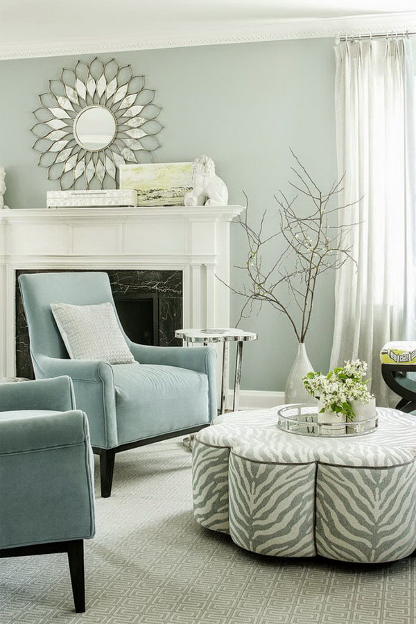 A Little Bit Blue & Gray Living Room.