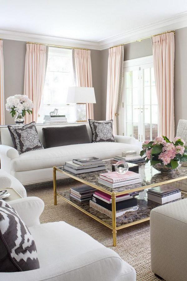 Elegant Gray Living Room.