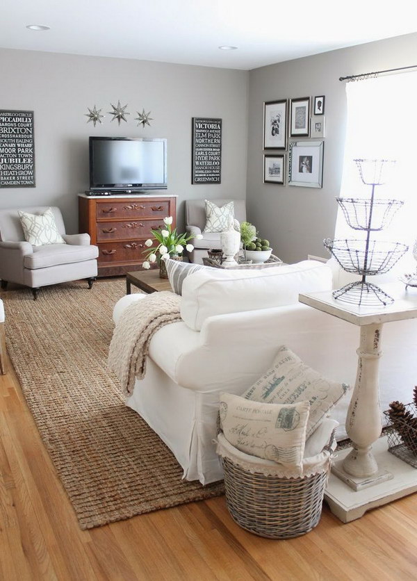 Light Gray Painting Living Room.