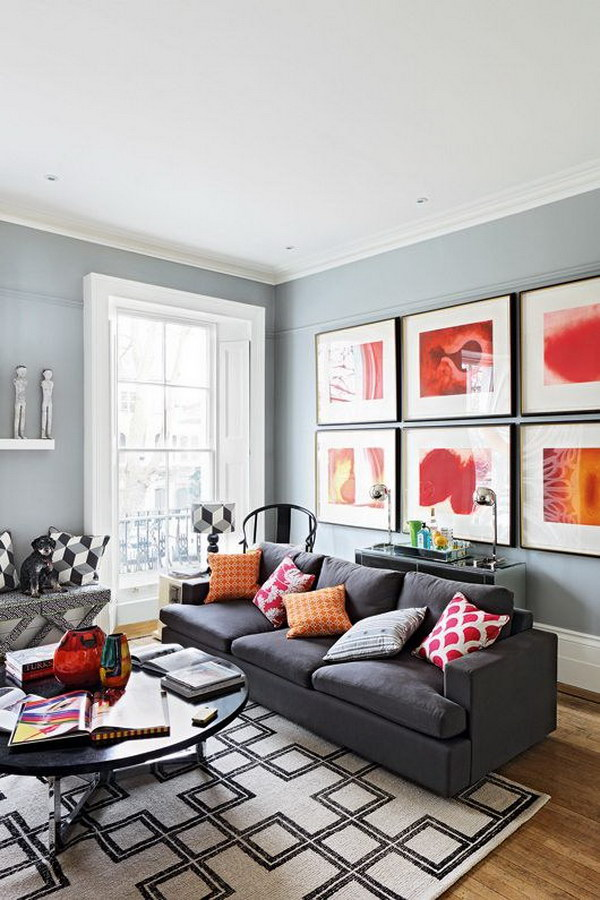 Gray Painting Living Room.