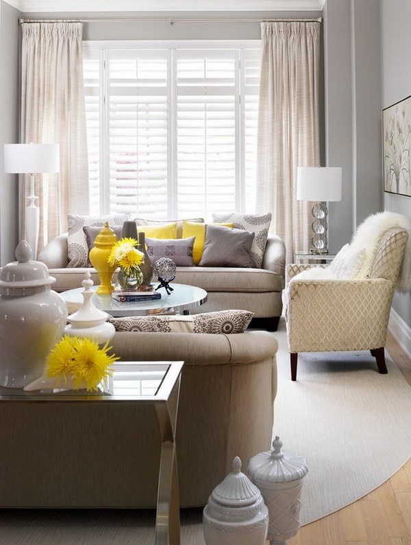 Gray Painted Living Room.