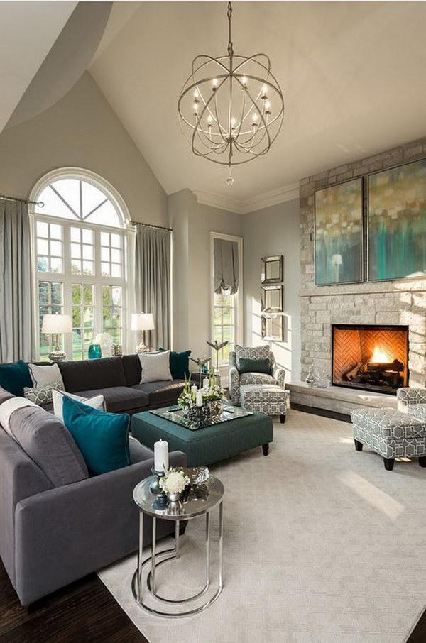 Beige Painting Living Room