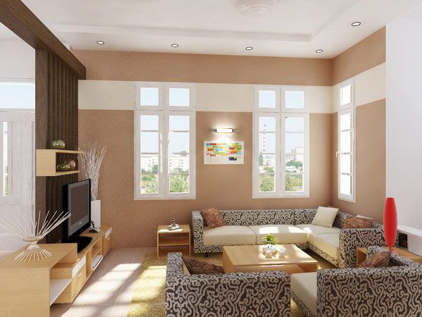 Beige Painting Living Room.