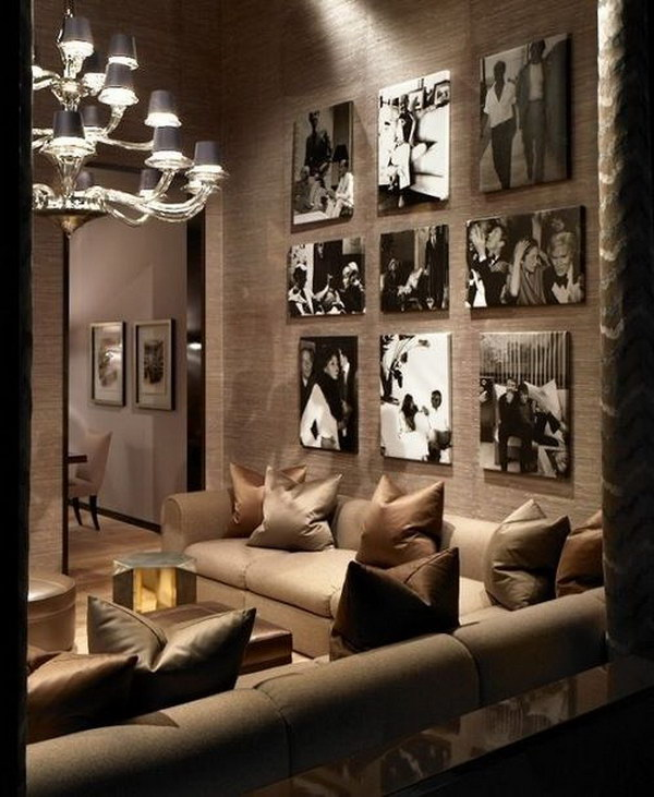 Brown Living Room With Artful Personalities.