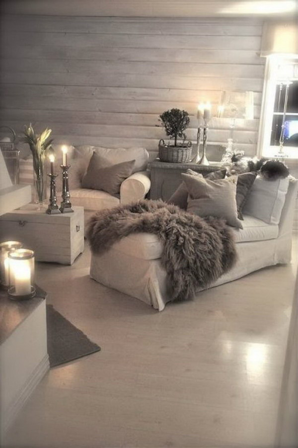Brown and Cozy Living Room.