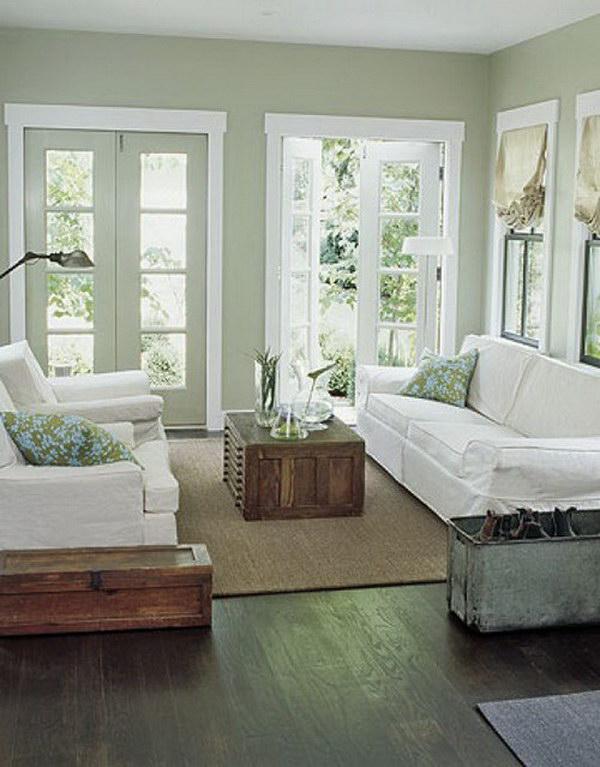 Soft Green blue Living Room.