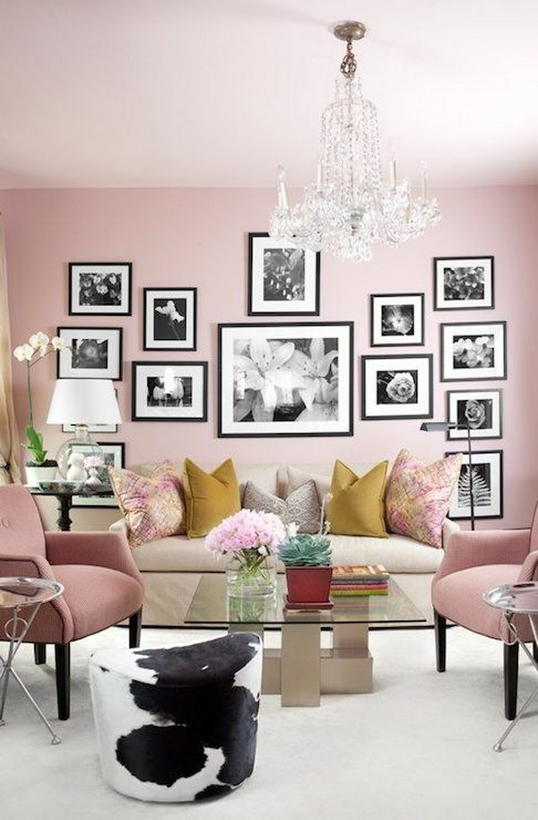 Pale Pink Painting Living Room.