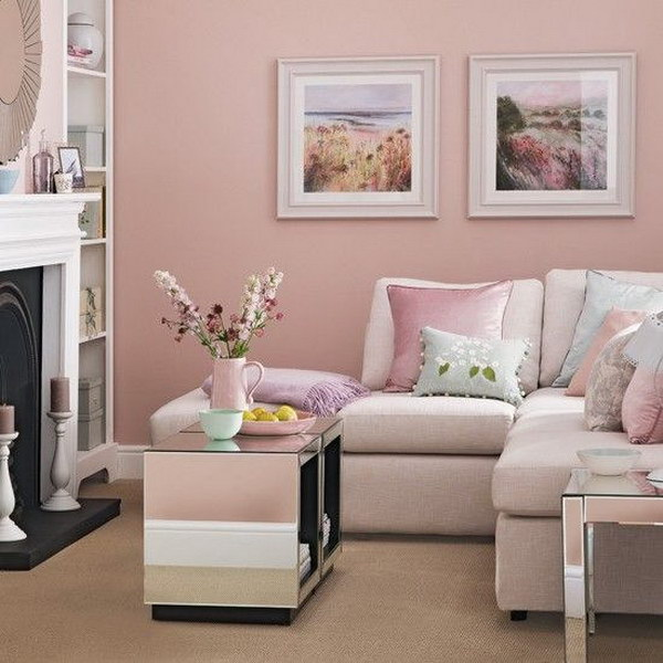 Candy Floss Pink Living Room.