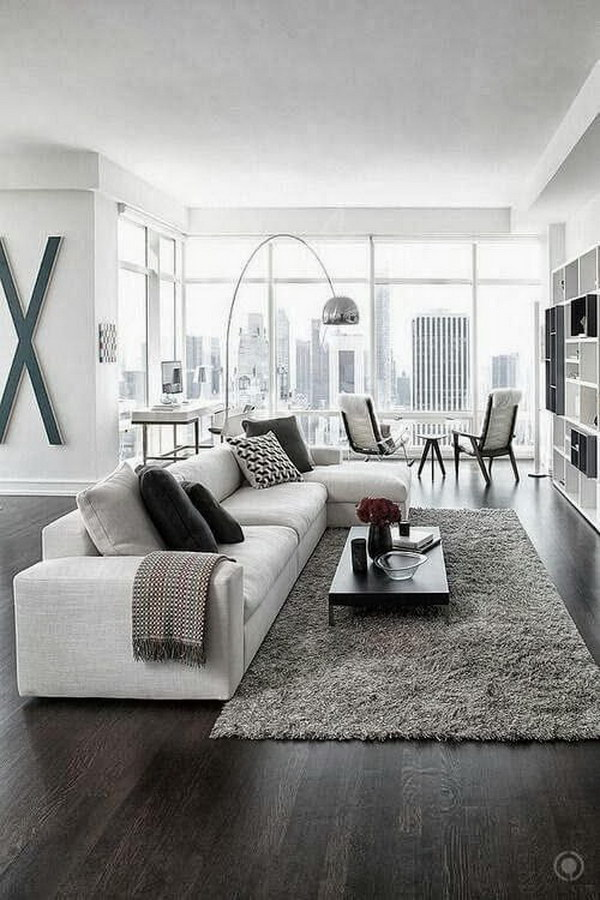 White Paint Living Room.