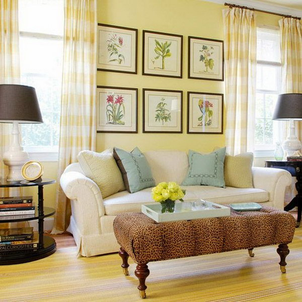 Light Yellow Living Room.