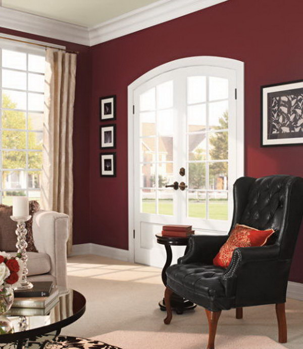 Behr's Twinberry Painted Living Room.
